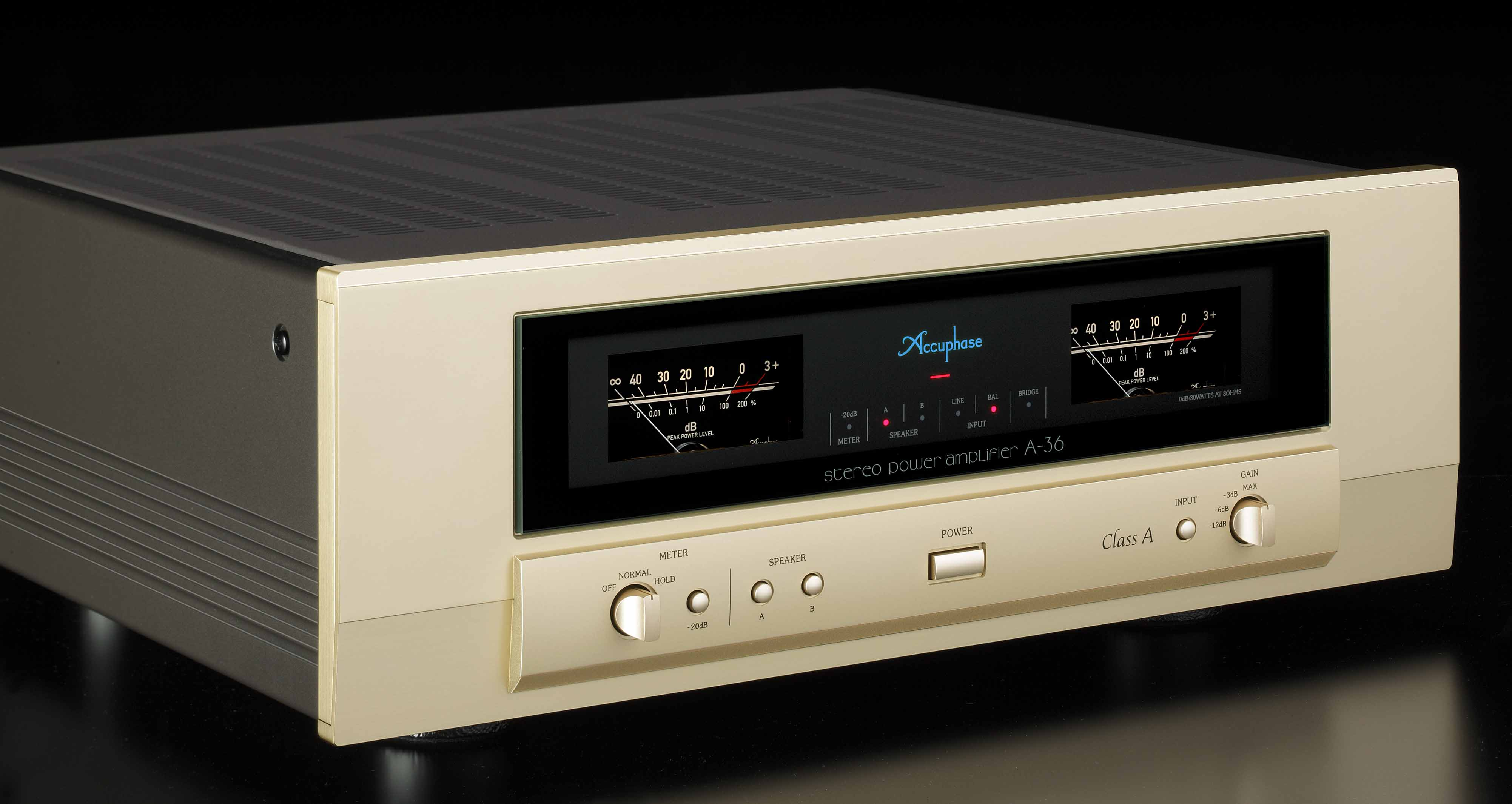 class a stereo power amplifier a 36 accuphase laboratory inc. Black Bedroom Furniture Sets. Home Design Ideas
