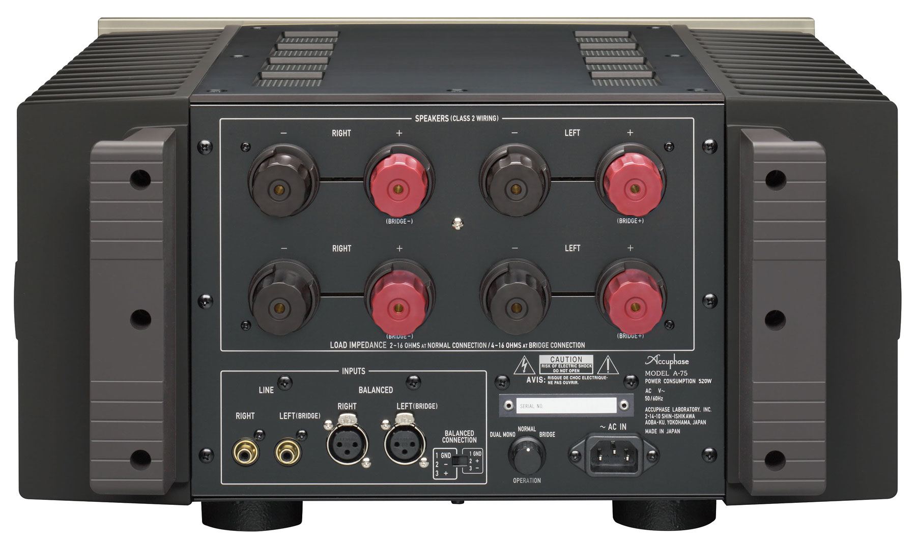 class a stereo power amplifier a 75 accuphase laboratory inc. Black Bedroom Furniture Sets. Home Design Ideas